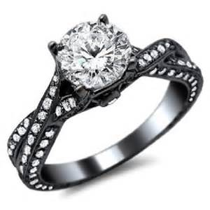 black engagement rings black gold wedding rings for wedding inspiration