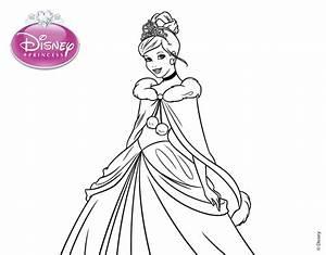 Dibujo De La Cenicienta Princesa Cenicienta Para Colorear