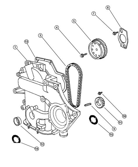 Engine Diagram From 1999 Dodge Caravan 3 3 by 1999 Dodge Grand Caravan Timing Chain And Cover 3 8l Egh