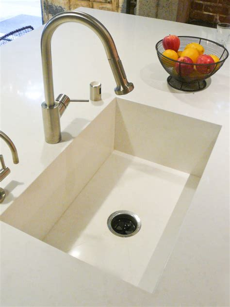 quartz countertop with integrated sink stylish kitchen sink trends amanzigranite