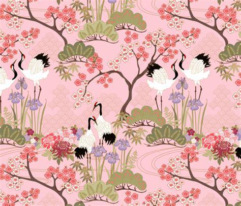 sprout patterns japanese garden designs spoonflower