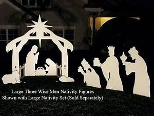 free silhoutte nativity scene patterns Three Wise Men