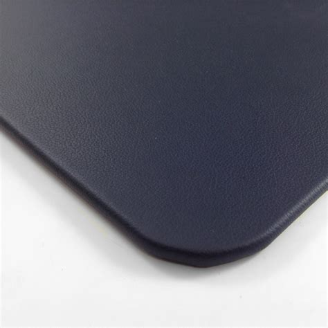 blue leather desk pad