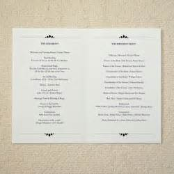 wedding program cover wording wedding ceremony program order of service rustic