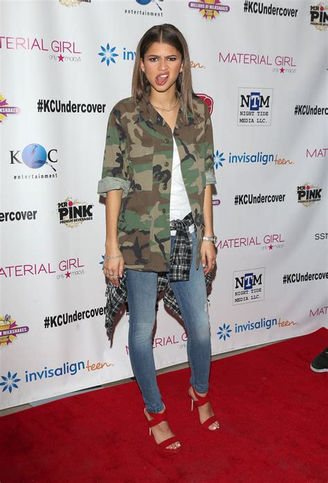 zendaya coleman kc undercover premier party  hollywood