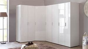 Eckschrank Weiß Hochglanz : kleiderschrank eckschrank schrankwand malta hochglanz wei ~ Orissabook.com Haus und Dekorationen