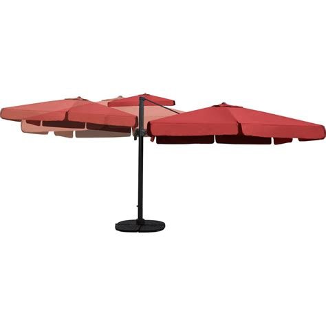 darlee 10 ft square cantilever patio umbrella with base