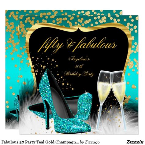 fabulous  party teal gold champagne glitter heel