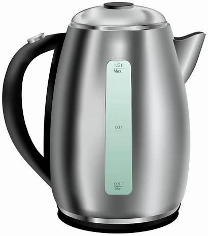 Kettle Clip Tea Steel Stainless Clipart Appliances
