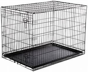 amazonbasics single door folding metal dog crate large With large steel dog crate
