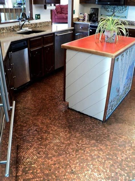 Kitchen Floor Of Pennies by Kitchen Floor This Is Part 1 Of This Project About