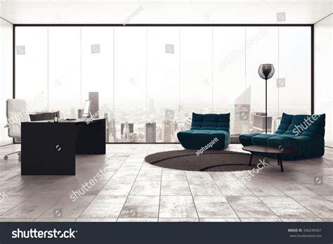 office view luxury executive office city view window stock photo Luxury
