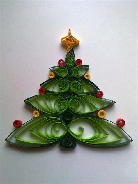 quilling christmas tree papet decor pinterest