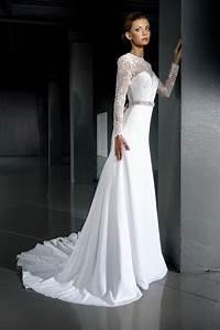 open back wedding dresslace wedding dress long sleeve With slimming wedding dresses