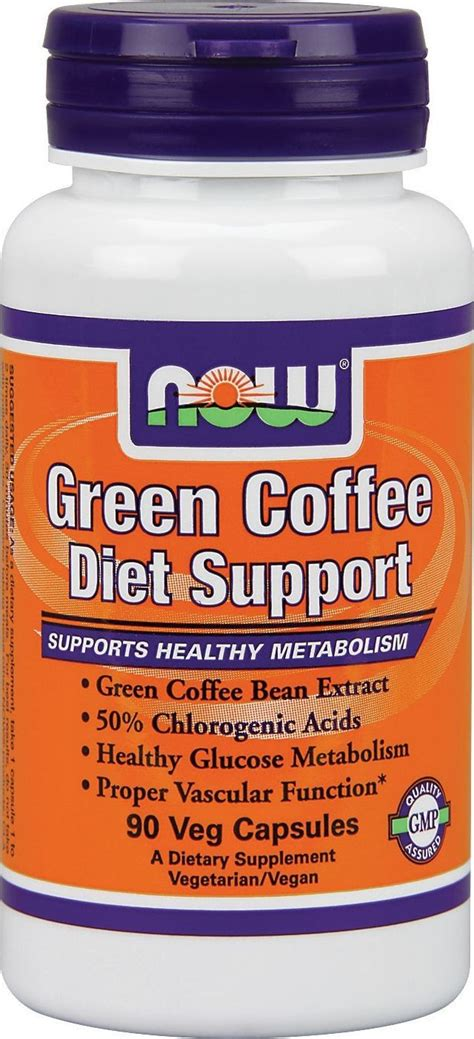 """This diet is a diet that involves drinking black coffee at every meal. """"Now Green Coffee Diet Support - 90 V-Capsules"""" 