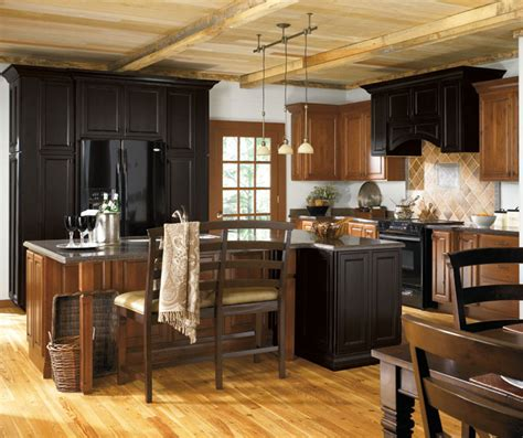 Schrock Kitchen Cabinets Menards Emrick Hickory Buckboard Schrock At Menards