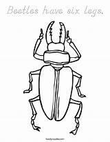 Coloring Legs Peg Leg Pete Beetles Six Outline Template Clip sketch template