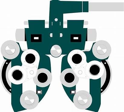 Eye Doctor Exam Clipart Examination Machine Illustration