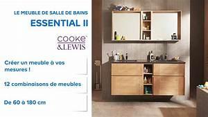 meuble de salle de bains essential ii cooke lewis With castorama meubles de salle de bain