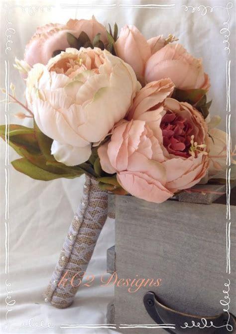blush colored flowers silk flower wedding bouquet silk bouquet bridal bouquet