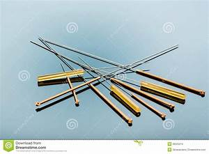 Acupuncture Needles Stock Images - Image: 36525214
