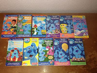 lot 2 blues blue s clues vhs abc s and 123 s stop look and listen guc 9 95 picclick