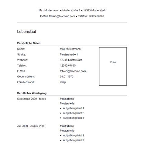 Lebenslauf Musterschreiben by Vorlage 34 Tabellarischer Lebenslauf