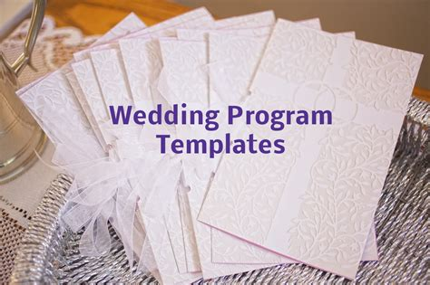 invitations excellent  page wedding program template