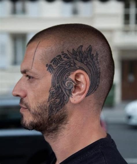majestic head tattoo skinhead head tattoo  tattoochiefcom