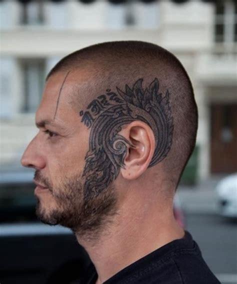 majestic head tattoo skinhead head tattoo  tattoochiefcom