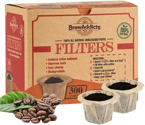 To be exact, there typically is an ability to make a single shot with only. Brew Addicts Disposable K-cup Paper Coffee Filters   All-Natural & Unbleached Coffee Filter for ...