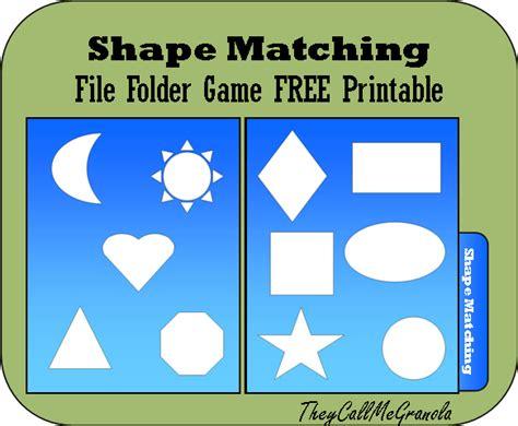 file folder for tots amp preschoolers color matching 840   shape matching file folder game1