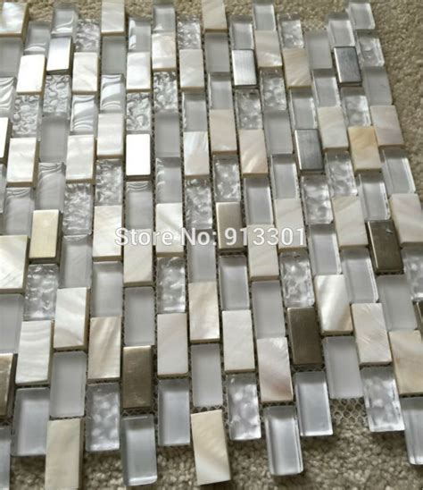 mother  pearl mosaic tiles frosted crystal glass tile
