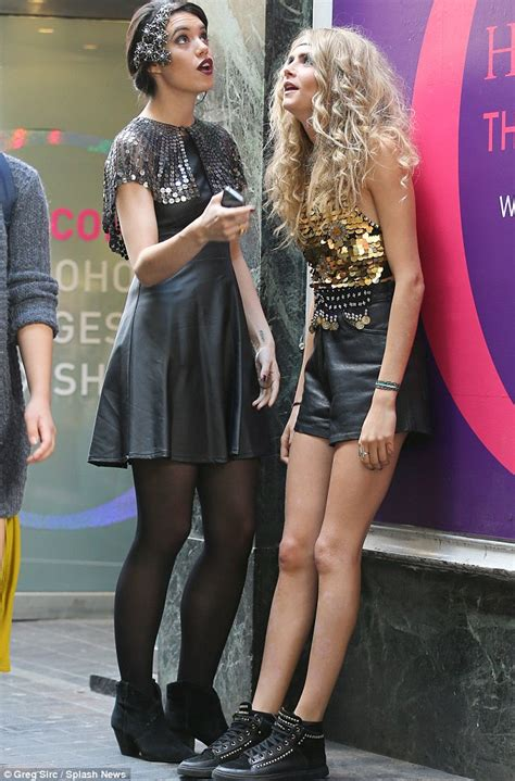 Cara Delevingne leaves set in sequin top and hotpants ...