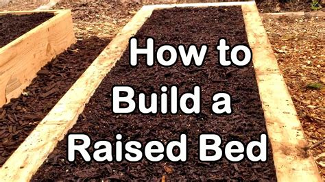 How To Build A Raised Garden Bed With Wood  Easy (ez
