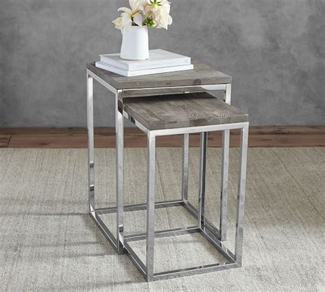 Pottery Barn Nesting Tables by Durham Nesting Side Table Pottery Barn