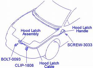 Stock Hood Latch Assembly 3000gt Stealth