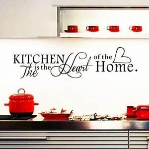 Wandbilder Für Küche Und Esszimmer : ufengke the kitchen is the heart of the home wandtattoo spruch zitat wandaufkleber ~ Orissabook.com Haus und Dekorationen