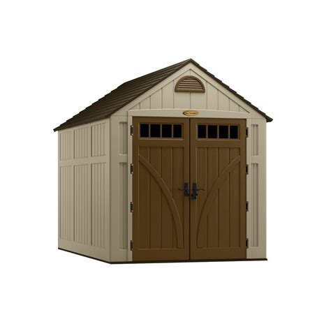 suncast storage sheds home depot suncast brookland 10 ft 8 in x 7 ft 6 in resin storage