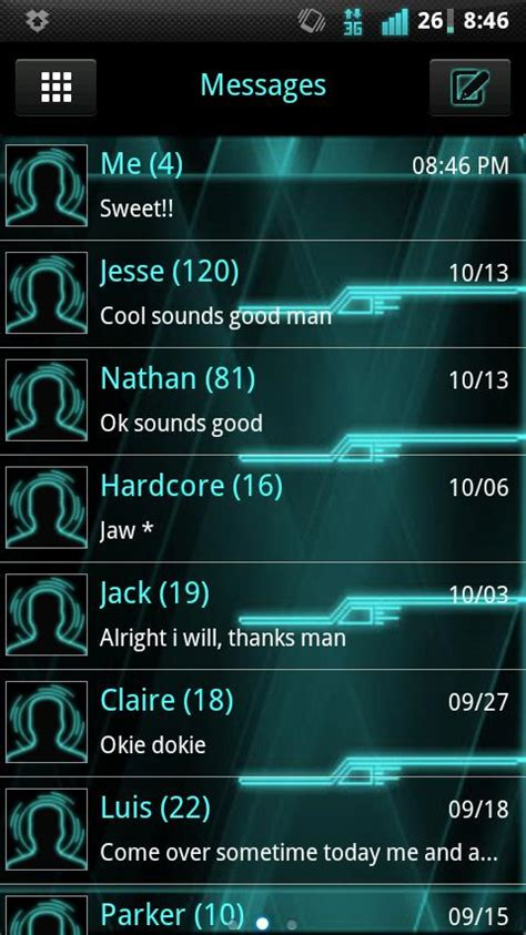 sms themes for android free go sms style theme android apps on play
