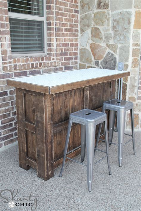 Cabinet Table Saw Used by Diy Tiled Bar Free Plans And A Giveaway Shanty 2 Chic
