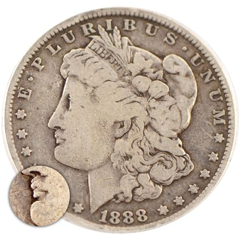 1888 'hot Lips' Morgan Dollar  O Mint  Anacs Authentic