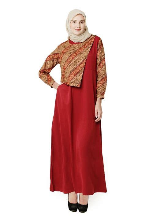 20 koleksi baju gamis 20 koleksi gamis batik kombinasi modis 2018 terbaru