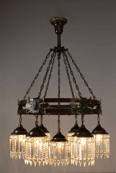 arts and crafts style chandelier seven