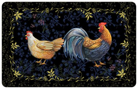 Kitchen Mat Rooster by Rooster Black Mat Signs Sku Mk 0063