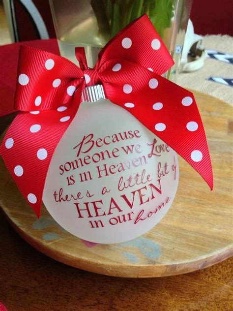 christmas ideas fpr someone who lost a loved one because someone we is in heaven personalized custom ornament remember a lost