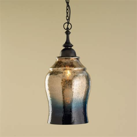 gold and indigo mercury glass pendant light pendant