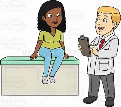 Doctor Patient Clipart Asking Medical Talking Questions