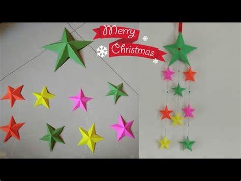 diy easy  paper starsmaking wall hanging  paper