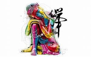 Lord Buddha abstract colors art image - New hd ...